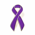 Purple Ribbon Lapel Pin