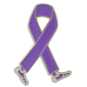Purple Ribbon Walk Lapel Pin