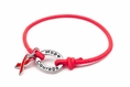 Red Awareness Stretch Charm Bracelet