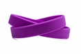 """Solid color purple - blank rubber wristband - Adult 8"""""""