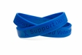 Support Disabled Veterans Blue Rubber Bracelet Wristband - Adult 8""