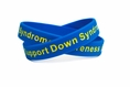 Support Down Syndrome blue and yellow wristband - Adult 8""