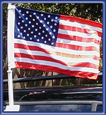 USA American Car Flag - Single Ply