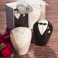 Adorable Bride & Groom Salt and Pepper Shaker Favors