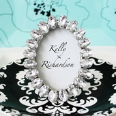 Antique Acrylic Jeweled Place Card Frame Favors