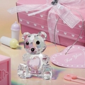 Choice Crystal Collection Pink Teddy Bear Figurines Baby Shower Favors