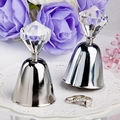 Dazzling Diamond Silver Bell Favors