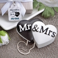 Mr. and Mrs. Interlocking Hearts Trinket Box Favors