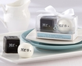 """Mr. & Mrs."" Ceramic Salt & Pepper Shaker Favors"