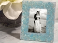 Murano Art Deco Collection Blue Pebble Design Photo Frame