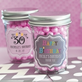 Personalized Birthday Mini Mason Jar Favors