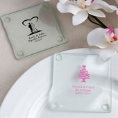 Personalized Glass Coaster Favors