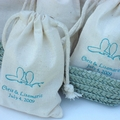 Personalized Muslin Favor Bag Wedding Favors