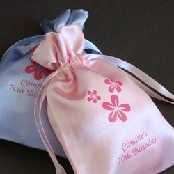 Personalized Satin Favor Bags Wedding Favors
