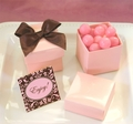 Pink Wedding Favor Boxes
