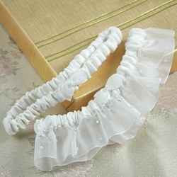Starlight Wedding Garter in White or Ivory