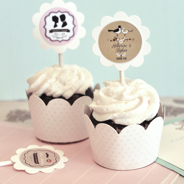 Wedding Favors Year Cupcake Wrers Toppers