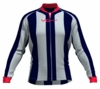 Atlanta Hawks Striped Long Sleeve Cycling Jersey