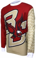Boston College Eagles Long Sleeved Bike Jersey Free Shipping
