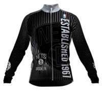Brooklyn Nets Retro Long Sleeve Cycling Jersey