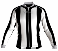 Brooklyn Nets Striped Long Sleeve Cycling Jersey