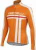 Castelli Free FZ  Cycling Jersey - Orange/White