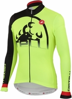 Castelli Sublime Yellow Long Sleeve Cycling Jersey