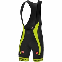 Castelli Velocissimo Bibshorts Black/Flourescent Yellow