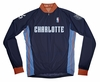 Charlotte Bobcats Away Long Sleeve Cycling Jersey Free Shipping