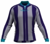 Charlotte Hornets Striped Long Sleeve Cycling Jersey
