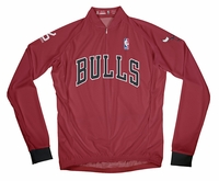 Chicago Bulls Away Long Sleeve Cycling Jersey Free Shipping