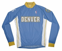 Denver Nuggets Away Long Sleeve Cycling Jersey Free Shipping