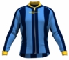 Denver Nuggets Striped Long Sleeve Cycling Jersey