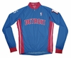Detroit Pistons Away Long Sleeve Cycling Jersey Free Shipping