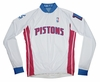 Detroit Pistons Long Sleeve Cycling Jersey Free Shipping