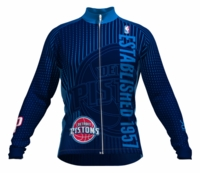 Detroit Pistons Retro Long Sleeve Cycling Jersey