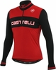Castelli Fausto Wool Cycling Jersey - Red/Black