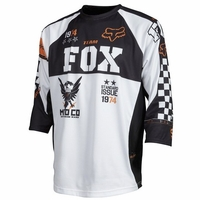Fox Covert 3/4 Mountain Bike Jersey White/Orange