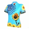 Go Girl Blue Sunflower Women's Cycling Jersey