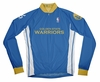 Golden State Warriors Away Long Sleeve Cycling Jersey Free Shipping