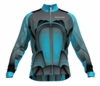 Houston Dynamo Aqua Keeper Long Sleeve Cycling Jersey