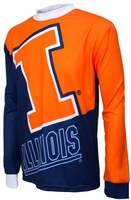 Illinois Fighting Illini Long Sleeved Bike Jersey