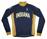 Indiana Pacers Away Long Sleeve Cycling Jersey Free Shipping