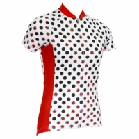 Lady Bug White Women's Cycling Jersey