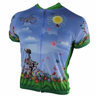 Lady on Flowers Women's Cycling Jersey