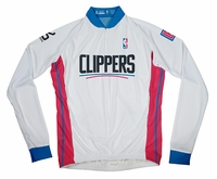 Los Angeles Clippers Long Sleeve Cycling Jersey Free Shipping