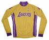 Los Angeles Lakers Long Sleeve Cycling Jersey Free Shipping