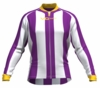 Los Angeles Lakers Striped Long Sleeve Cycling Jersey