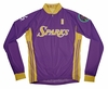 Los Angeles Sparks Away Long Sleeve Cycling Jersey