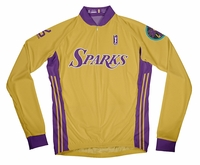 Los Angeles Sparks Home Long Sleeve Cycling Jersey